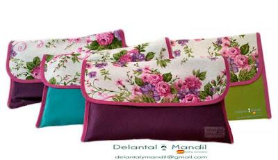 delantales florales