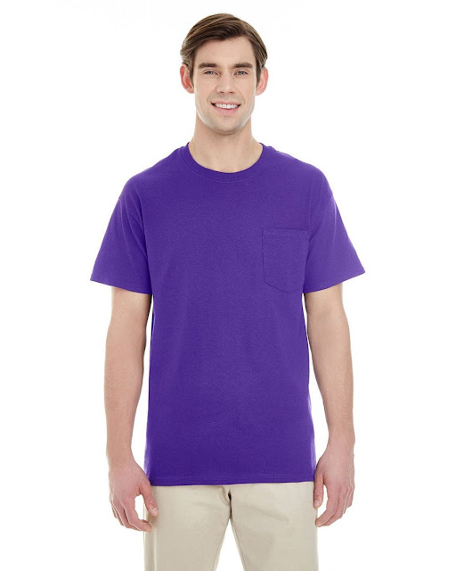 Gildan G530 Adult Heavy Cotton Pocket T-Shirt (15 Colors)