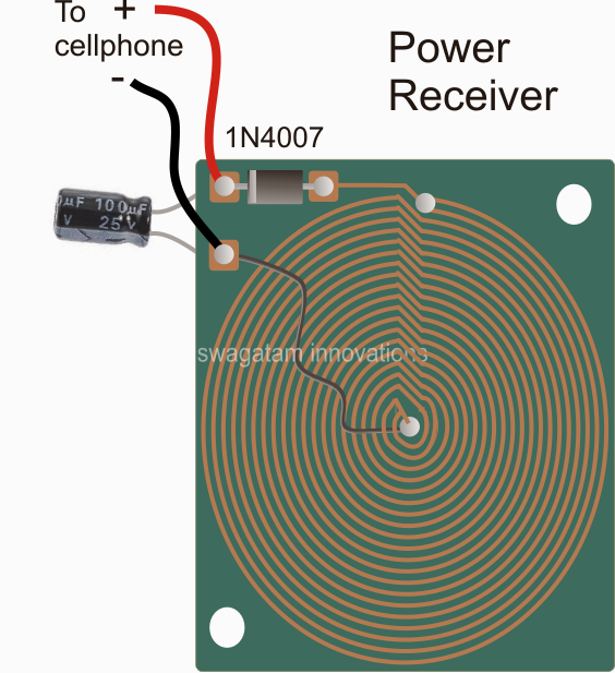 wireless power collector or receiver circuit