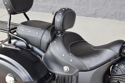 All New 2016 Indian Chief Dark Horse rear seat  Hd image