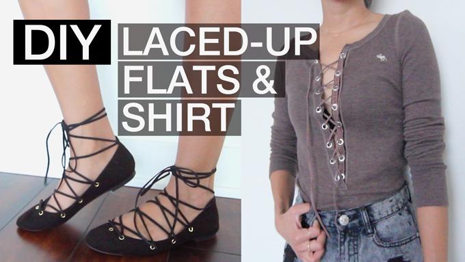 Diy Lace Up Flats And Shirt Beautybitten A Personal