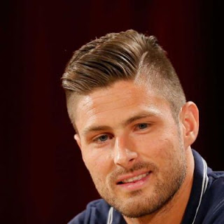Olivier Giroud's Side Parted Look