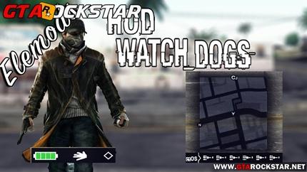 Mod HUD do Watch Dogs V2.0 para GTA San Andreas