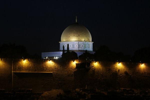 Cúpula de Roca en el Monte del Templo en Jerusalém