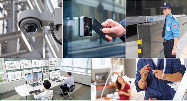 Hệ thống an ninh bảo vệ 2 lớp với nhân viên và camera giám sát 24/24