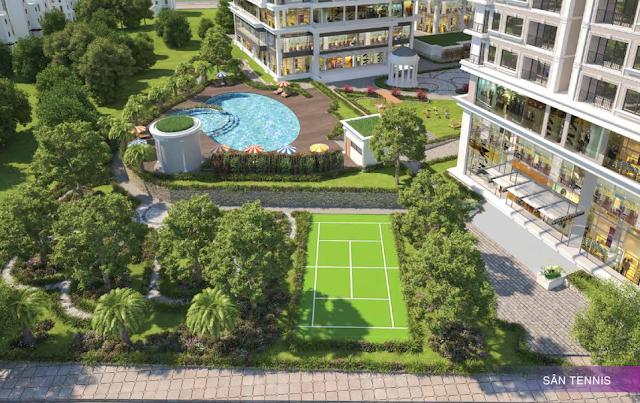 Sân tennis dành cho những cư dân đam mê thể thao