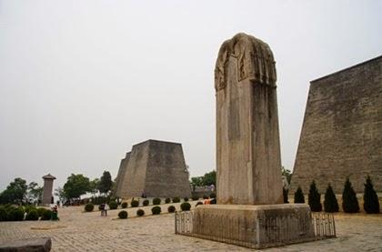 สถานที่ฝังพระศพของพระนางบูเช็กเทียนกับจักรพรรดิถังเกาจง