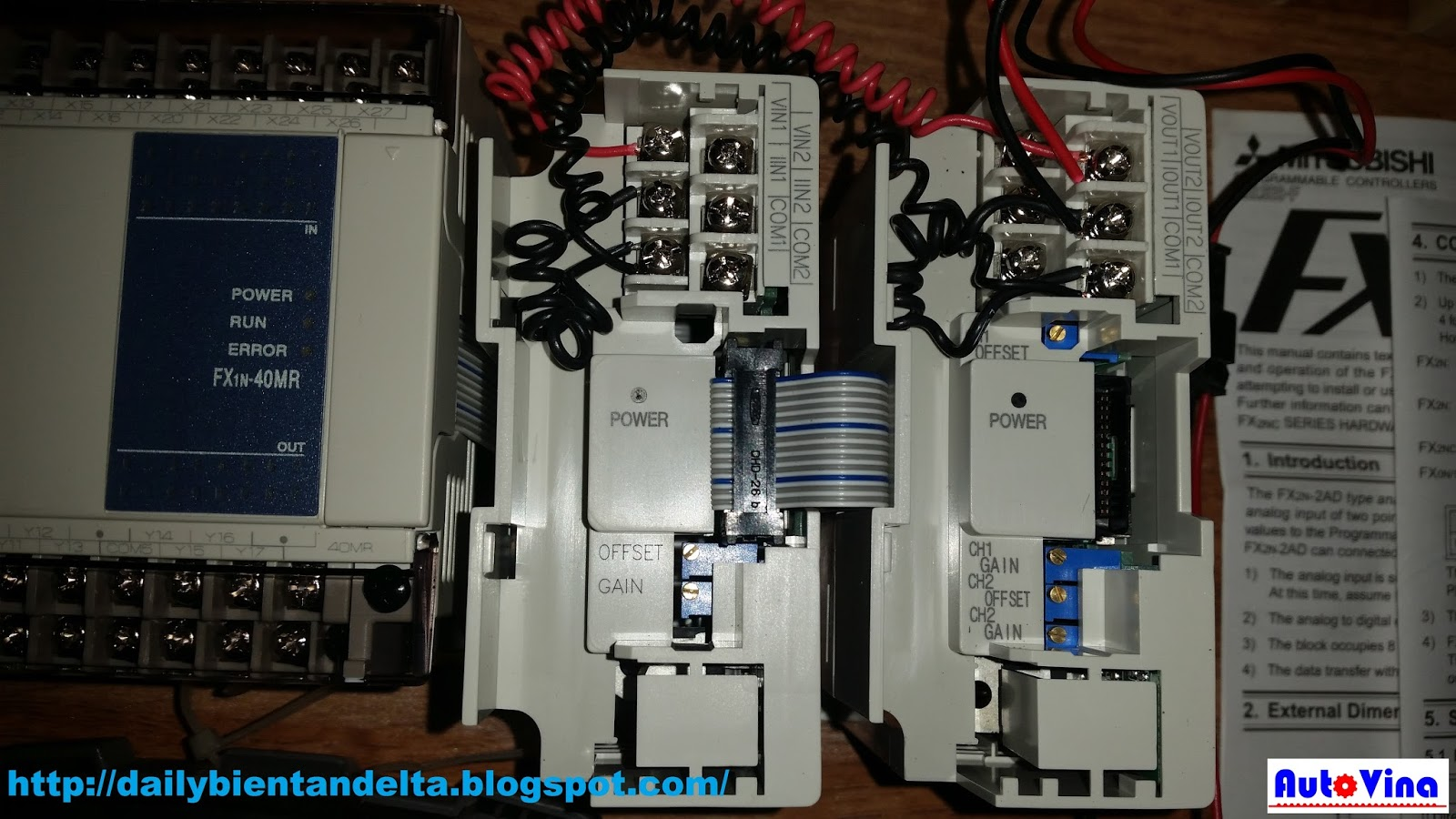 Hướng dẫn thực hiện đấu nối PLC Mitsubishi với module analog