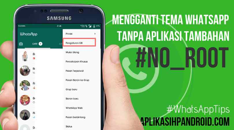 Cara mengganti tema di Whatsapp tanpa aplikasi no root 2