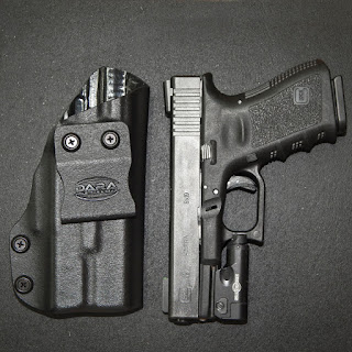 Holster for Glock 19 with Surefire XC-1, g19 holster, xc-1 holster, xc-1 iwb holster, surefire xc-1 glock 19 holster, inside the waistband for glock 19 with xc1, glock 19 with xc-1 holster, glock 23 with xc-1 holster, glock 32 with xc-1 holster, glock 19 with surefire xc-1 inside the waistband holster, dara holsters