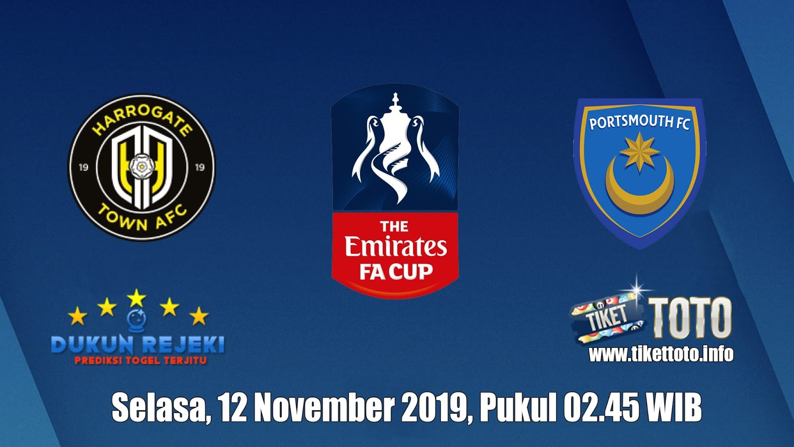 Prediksi FA Cup Harrogate Town VS Portsmouth 12 November 2019
