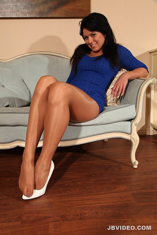 Shiny Pantyhose Teasing And 72