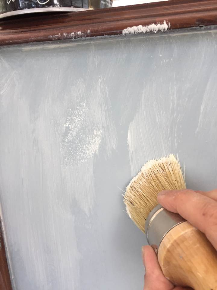 Apply wax to seal the base coat before apply the paint wash.