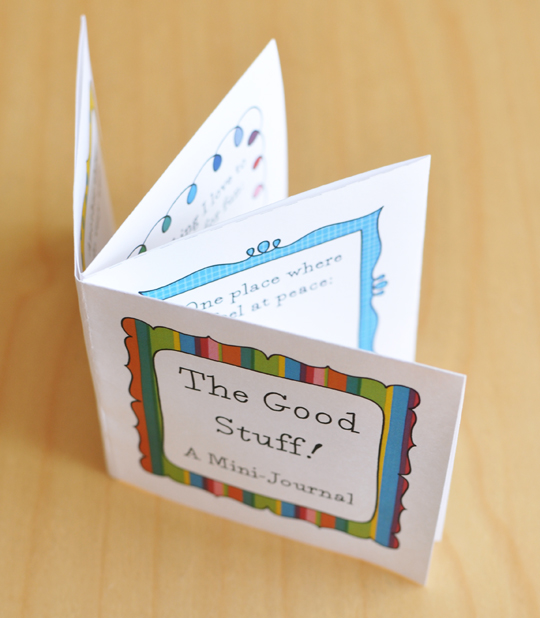 Adventures in Guided Journaling Good Stuff! A Printable Mini