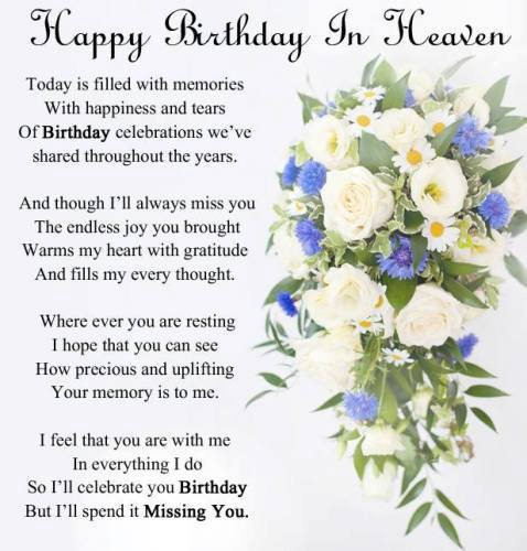 Happy Birthday In Heaven Images Quotes Poems for Friend ...