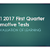 NEW! 2017 First Quarter Summative Tests