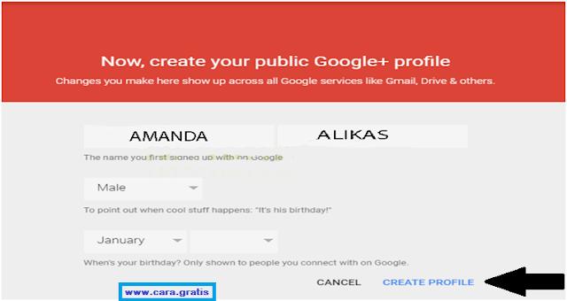 Nama Profil Google