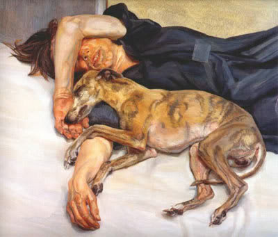 lucian freud's paintings of dogs