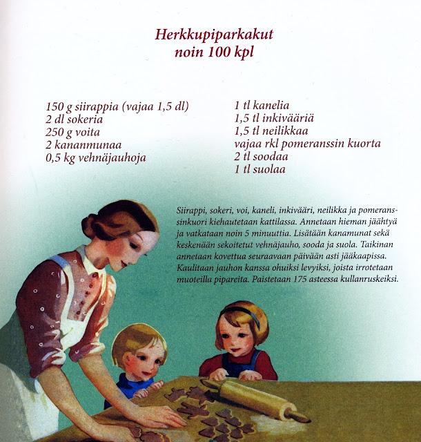 piparkakkuohje, piparit, Martta Wendelin