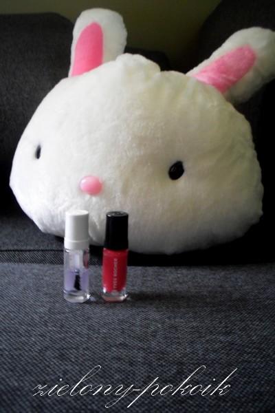 Kosmetycznie: Yves Rocher: Wzmacniająca baza do paznokci i lakier do paznokci kolor: 23 Rose Azalee