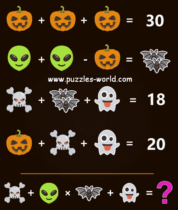 Halloween Special Maths Puzzle