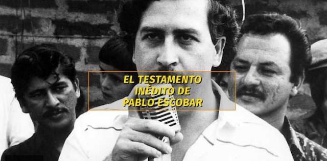 Revelan un testamento inédito de Pablo Escobar