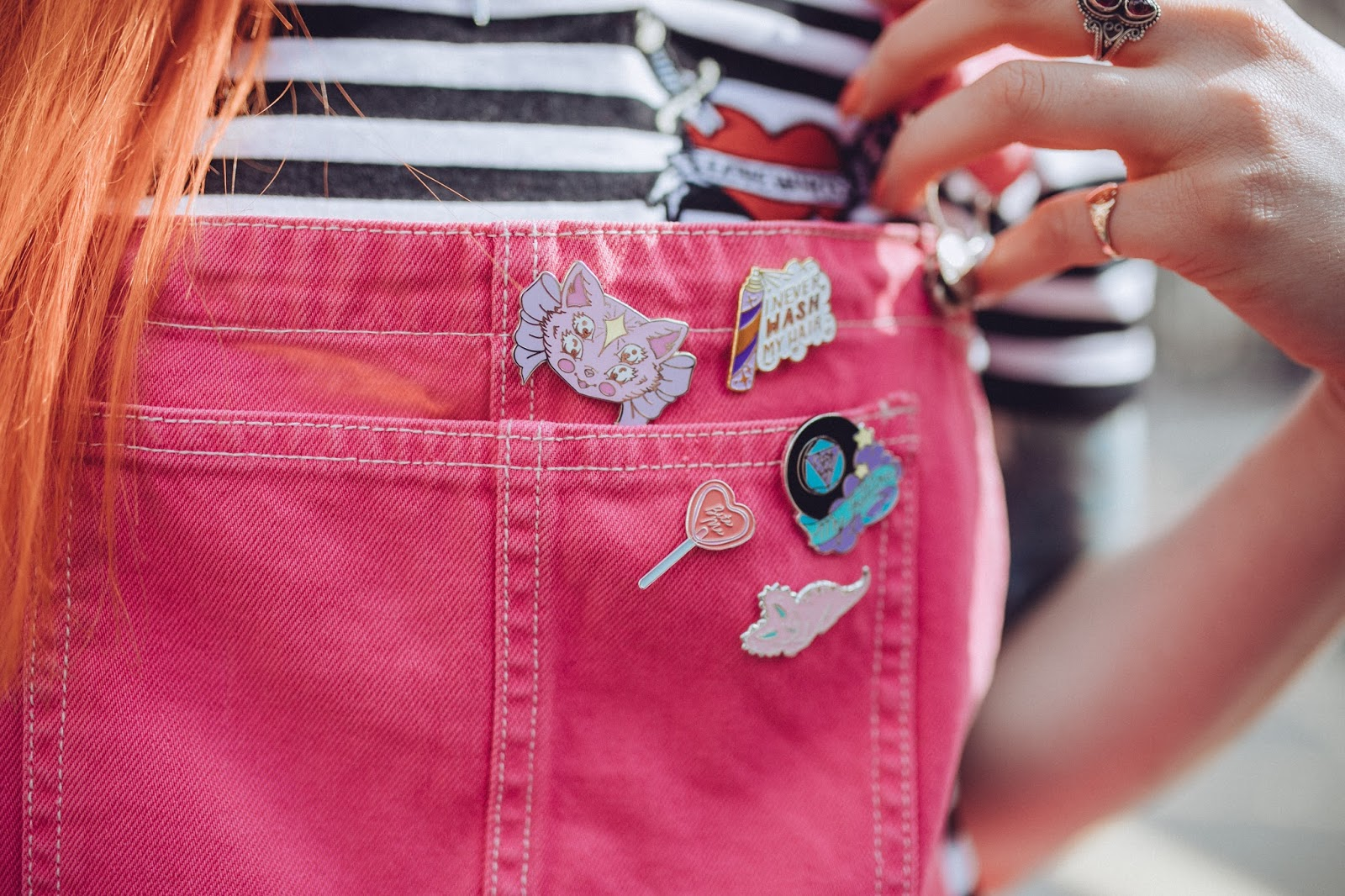 Alternative Fashion Blogger Foxxtailz Styles Punky Pins
