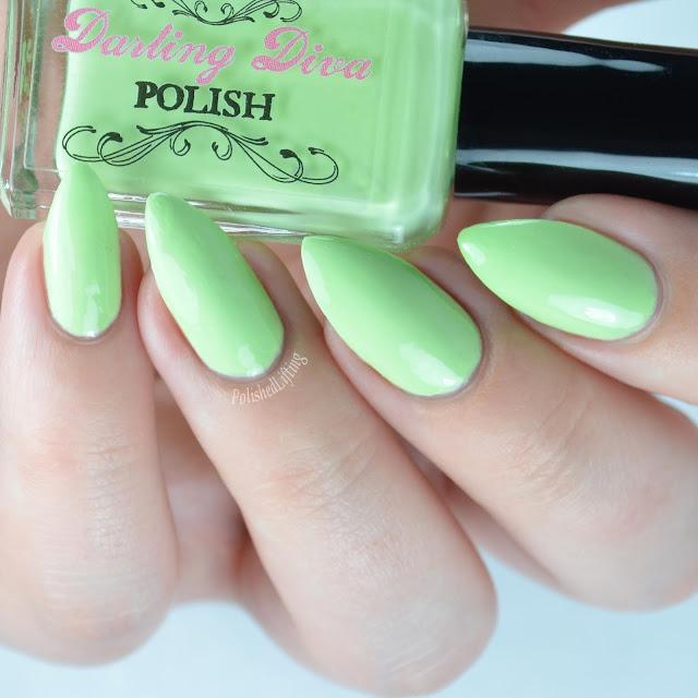 pastel green nail polish