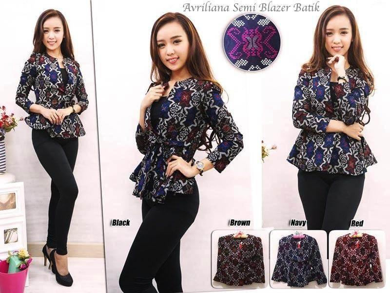 Jual Blazer Avriliana Semi Blazer Batik - 12601