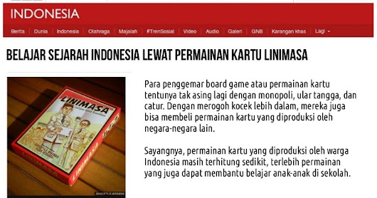 Liputan Linimasa Card Game oleh BBC Indonesia