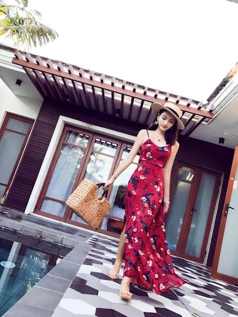 Cua hang ban vay maxi di bien tai Dong Mai