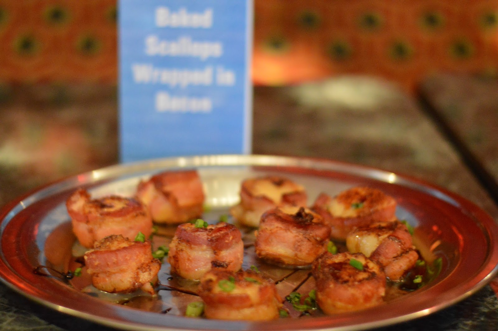 Bacon Wrapped Scallops at Kings Bowl- Ultimate Guide to Restaurants in Rosemont | all dressed up with nothing to drink...