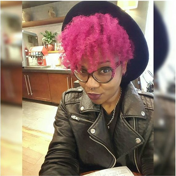 natural hair dye pink