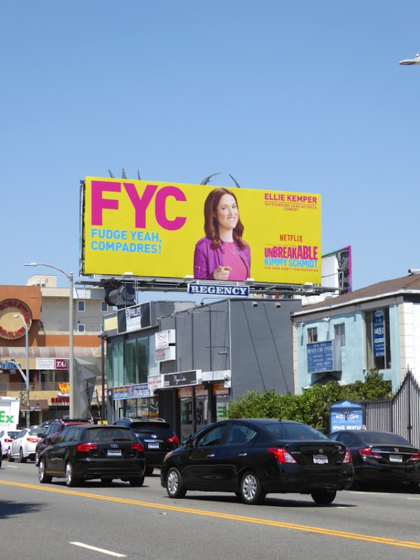 Kimmy Schmidt Fudge Yeah Compadres Emmy billboard