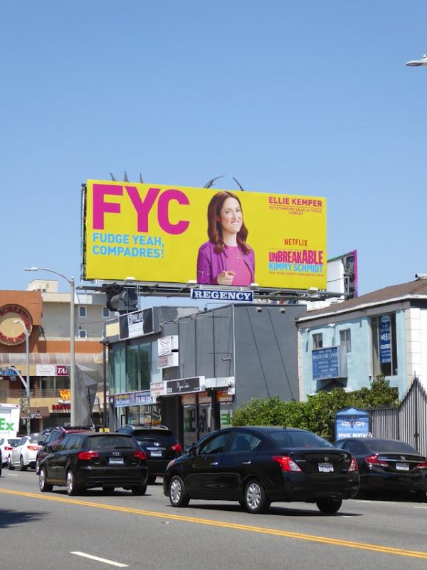 Kimmy Schmidt Fudge Yeah Compadres Emmy billboard
