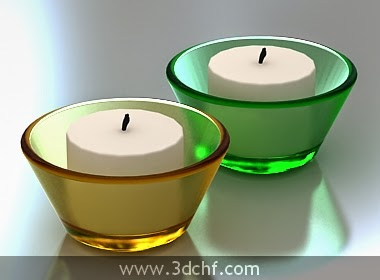 free 3d model candle decoration