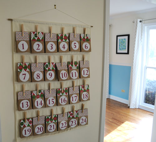 Easy diy advent calendar diy advent calendar solutioingenieria Image collections
