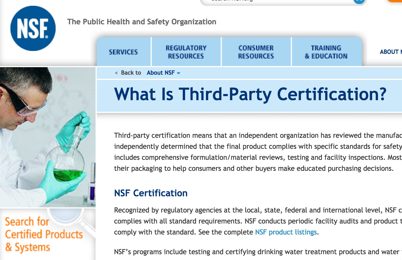 Food Safety: Certification or Regulation? – Economic Thinking