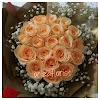 Handbouquet Mawar Peach 111016