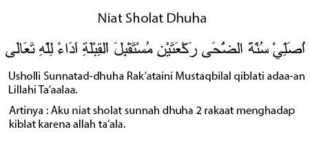 Bacaan Niat Sholat Dhuha