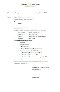 Contoh Undangan Pertemuan Pembahasan RAT, RAB Koperasi