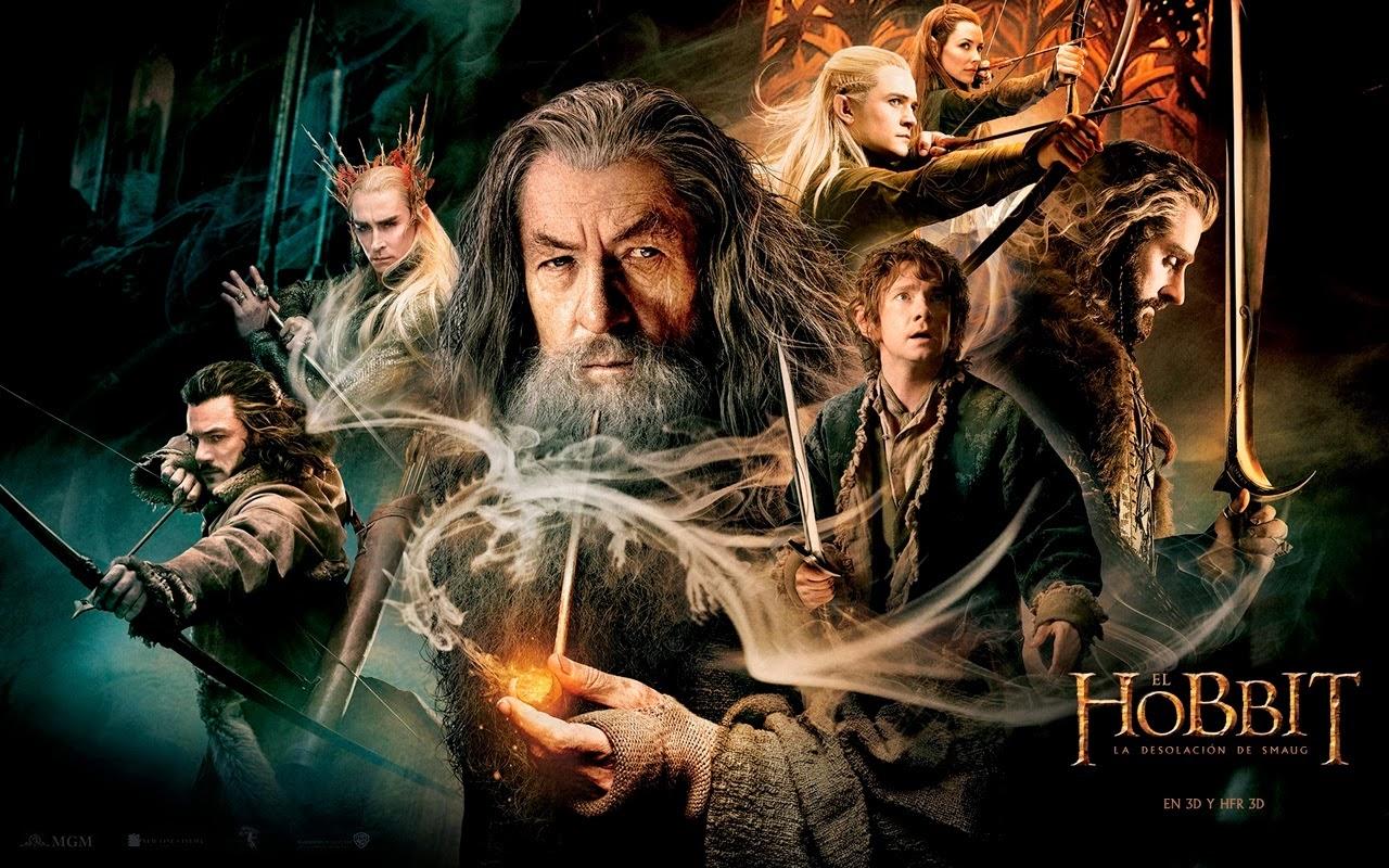 Cartel de la pelicula El Hobbit, la desolacion de Smaug