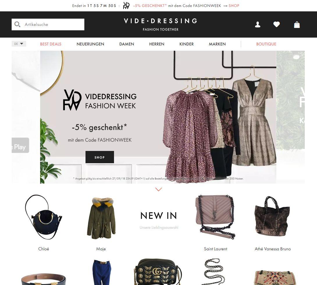 6e152185a9a9e9 Auch Videdressing hat ein großes Angebot an Second-Hand-Designer-Mode und  bietet eine Echtheitsgarantie. Allerdings wird hier kein Concierge Service  ...