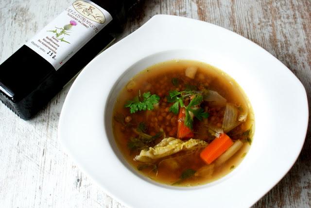 zupa z soczewicy,soczewica,symbio,woj len,kuchnia wloska,