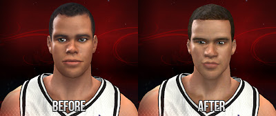NBA 2K13 Kris Humphries Cyberface Before and After Mod