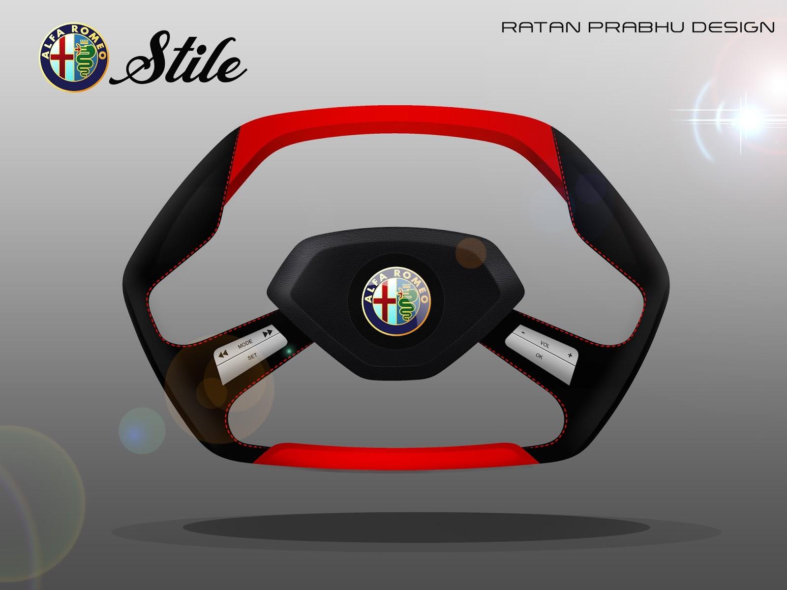 Tata Safari Render 2018 >> RATANDESIGNZ: Alfa Romeo Stile Concept Steering Wheel Design