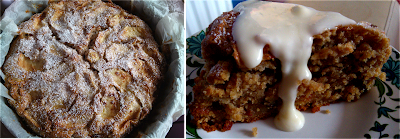 apple sultana cake cuppa autumn snack treat cinnamon