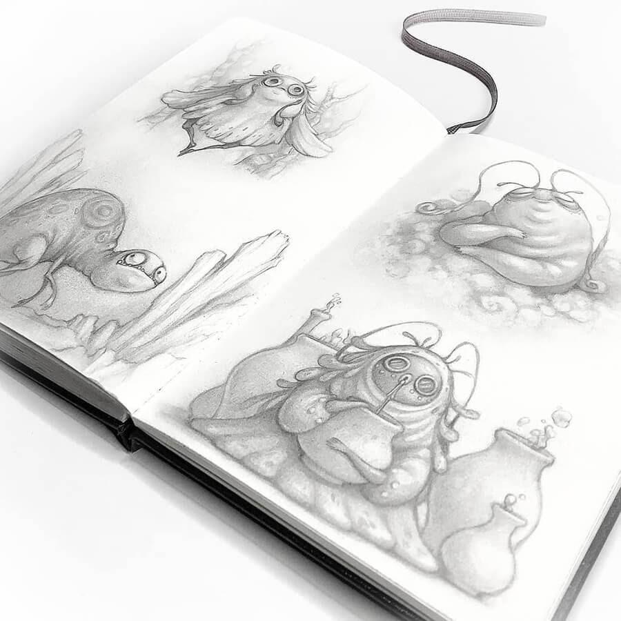 09-Drawings-of-Creatures-Stella-Bialek-www-designstack-co