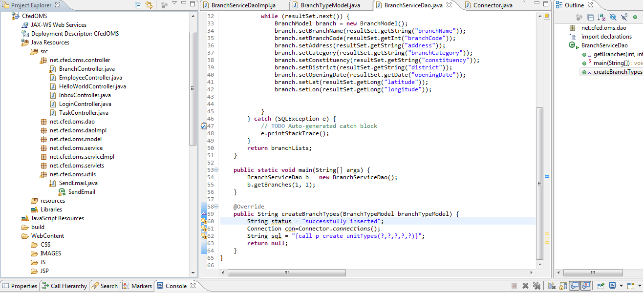 java source code: Employee Management System using spring