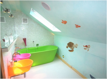 Young Girls Bathroom- This room is universal for girl or boy